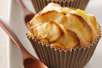 muffins aux pommes recettes gloria. Black Bedroom Furniture Sets. Home Design Ideas