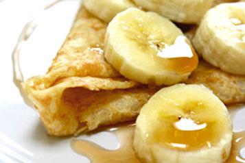 crepes a la banane flambees