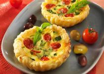Tarte courgettes et tomates