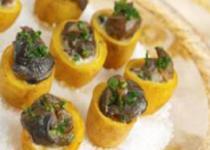 Coquetiers de pommes de terre aux escargots