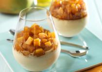 Panna cotta de mangue aux épices